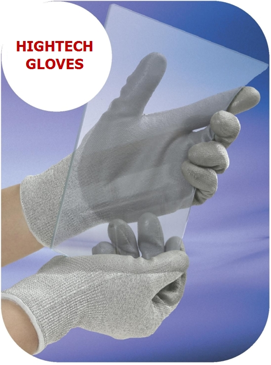 Cut Level 5 Glove with PU coating/Form Nitrile(NBR) Gloves
